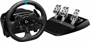 Logitech G923 Racing Wheel and Pedals - Black
