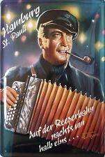 Hans Albers Reeperbahn Blechschild Hamburg 20x30cm Kino Plakat Hafen  St. Pauli