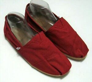 NEW  Toms Womens Shoes Size 11 Med Canvas RED    #736