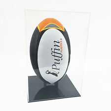 More details for rugby ball display case portrait (deluxe)