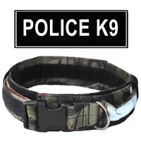 2 inch Military Tactical Dog Collar Police K9 Training Reflective Handle & Patch