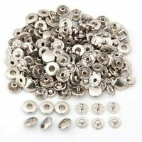 10, 50 or 100 X 12mm SILVER PRESS STUDS - S-SPRING POPPER PRESS SNAP FASTENERS