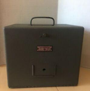 Vintage Brumberger 8 mm Movie Reel Metal Storage Box Container