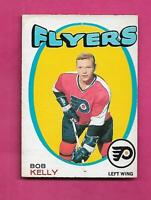 1971-72 OPC # 203 FLYERS BOB KELLY  ROOKIE EX-MT CARD  (INV# C1621)