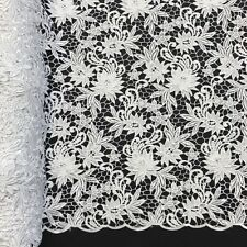 """Magnolia Guipure Venice French Lace Embroidery Fabric 52"""" Wide Many Colors"""