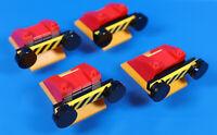 LEGO® City Eisenbahn Puffer Lok Prellbock rot mit gelb schwarzen Balken 4 Stück