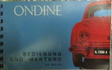 * Renault Ondine   R1090A R. 1090 A  Betriebsanleitung   - deutsch *