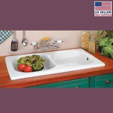 Kitchen Drop-In Counter Sink Italian Porcelain Double Basin | Renovator's Supply
