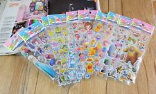 10 Sheets 3d Cartoon Kids Bubble Stickers Classic Toys Decal School Reward Gift 10 Different Patterns 10pcs