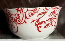 Cynthia Rowley Cynthia's Scrolls Red Soup Cereal Bowl