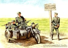 WWII GERMAN BMW R75 MILITARY MOTORCYCLE & 4 MOTORCYCLISTS 1/35 MASTER BOX 3539