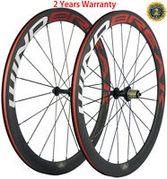 700C Bike Carbon Wheelset 38/50/60/88mm Clincher Road Wheels 23mm Width Bicycle