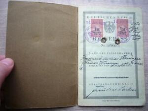 13) Deutsches Reich - REISEPASS - Freistaat SACHSEN - BAUTZEN 1928 für Ehepaar