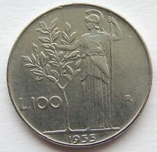 1955 R Italy 100 Lire Coin  KM#96.1  SB5808