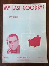 Vintage Sheet Music My Last Goodbye Eddy Howard Irving Berlin Blue Barron