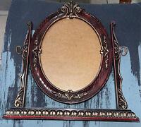 Vintage British Registered Design Oval Tilt Picture Frame Stand Table