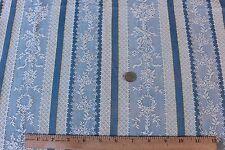 "Pretty French Blue Woven Jacquard Fabric c.1918~26""LX19""W~Dolls,Boudoir"