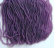 Purple Vintage Round Transparent Glass Seed Beads Long Hank 18bpi 11/0 (7004524)