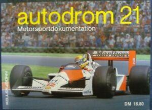 AUTODROM 21 MOTORSPORTDOKUMENTATION AUSGABE Axel Morenno Book 1989 German Text