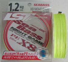 LINE SYSTEM SEABASS NIGHT GAME PE X8 Braided Line 150 m Fluo yellow