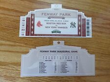 SGA BOSTON RED SOX vs NEW YORK YANKEES April 20, 2012 FENWAY PARK Replica Ticket