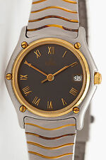 Estate $3500 EBEL 18k Yellow Gold SS WAVE Ladies Dress Watch MINTY