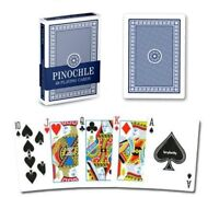 Pinochle Playing Cards, Poker Wide Size, Blue