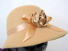 1920's LADIES BROWN CLOCHE BONNET COSTUME HAT