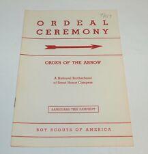 BSA - OA…ORDEAL CEREMONY…1957 PRINTING
