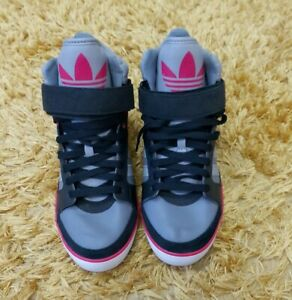 Vgc Womens Adidas Amberlight High Top wedge Trainers Size 7.5 EU 41 1/3 vintage