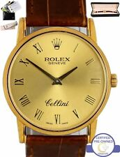 2001 MINT Rolex Cellini Geneve Manual Champagne 32mm 18K Yellow Gold Watch 5116