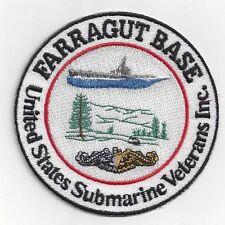 Farragut Base United States Submarine Veterans Inc. -  BcPatch Cat. No. C6123