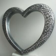 Ornate Heart Antique style wall mirror dressing, hallway large heart mirror new