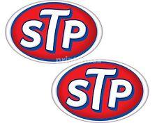 Stp Oil X 2 pegatinas 75x50mm Racing Moto Auto Calcomanías de Vinilo de calidad etiqueta