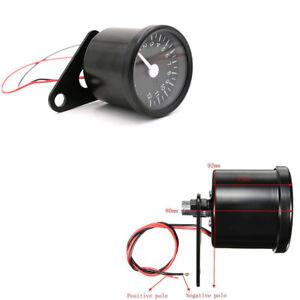 Universal Motorcycle Dirt Bike 65mm Metal Tachometer Speedometer Gauge 12000 RPM