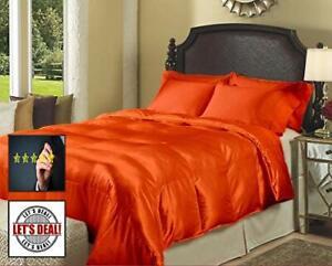 1000 TC Satin Silk 5 PC (Sheet Set + Comforter)300 GSM US Sizes & All Color