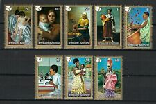 Rwanda 1975 Sc#665-72  International Women's Year-Paintings  MNH Set $4.60