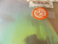 """Dichroic Glass: CBS 90COE Magenta/Green on Flat Thin Clear 3"""" Sq"""