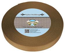 Country Brook Design® 3/4 Inch Coyote Tan Heavy Nylon Webbing, 10 Yards