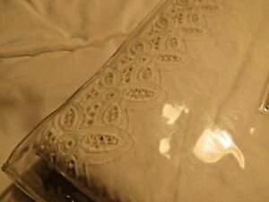 Martha Stewart Collection Bedding, Eyelet trim FULL Bedskirt - Color Ivory White