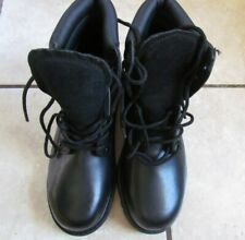 Sears Leather and Man-made Materiel Size 7.5D Work Shoes Black Leather 84711