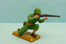 BRA14/1773 BRITAINS / ENGLAND / SOLDAT U.S GI WWII A GENOUX FUSIL 54MM
