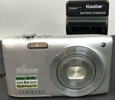 Nikon COOLPIX S3200 16.0MP Digital Camera - Silver