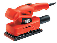 BLACK & DECKER 135W KA300 1/3 ELECTRIC DETAIL PALM SANDER ORBITAL SANDING + PAD