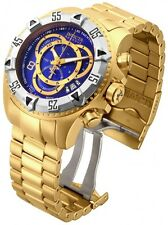 InvictA 80622 Excursion Yellow Gold Swiss made Diver 200 M Blue dial   NEW