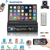 "7"" 1 Din Car Radio Stereo Touch Screen Bluetooth  Player FM USB SD AUX + Camera"