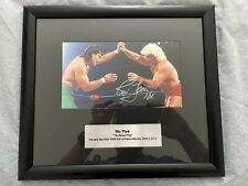 More details for ric flair vs ricky steamboat 1989 - signed & glass framed picture wwe wwf wcw