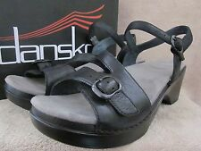 DANSKO Sandi Black Soft Full Grain Leather Heels Shoes US 11.5 - 12 M EUR 42 NWB
