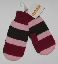 NWT GYMBOREE Sweet Treats Striped Brown Pink Red Mittens 5-7