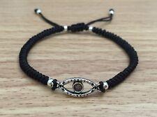 Braided Knotted Unisex Fashion Adjustable Shamballa Bracelet  - Evil Eye Design